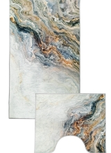 [Predložka do kúpeľne 3D - šedý mramor - 850/019]