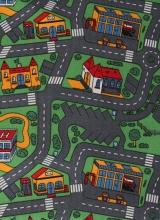 [Detský metrážny koberec City Life 158 / TOWER]