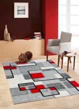 [Kusový koberec Rumba 7819A Grey Red]