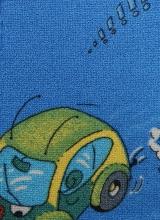 [Detský metrážny koberec TRAVEL 74 modrý]
