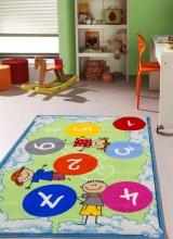 [Detský kusový koberec Twister 962 Zelenomodrý]
