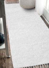 [Ručne tkaný koberec - Biely]