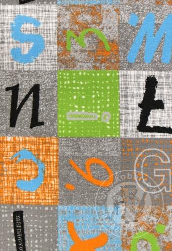 Detský metrážny koberec ALPHABET 129
