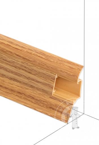 Podlahová lišta DOLLKEN W130 Dub červený