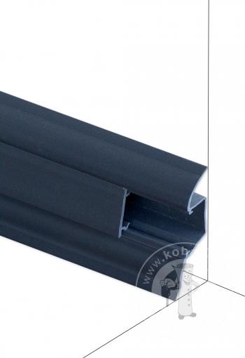 Podlahová lišta DOLLKEN W146 Tmavosivá