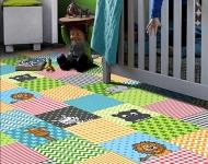 Detský metrážny koberec ANIMALS 845
