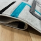 Kusový koberec Rumba 7810A Grey Turqoise